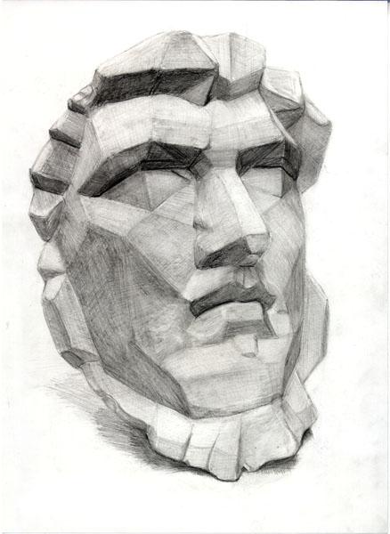 石膏デッサン 鉛筆