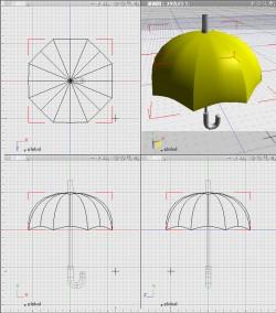3DCG基礎、傘