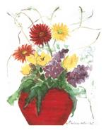 赤い花びん