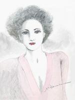 ピンクの女性
