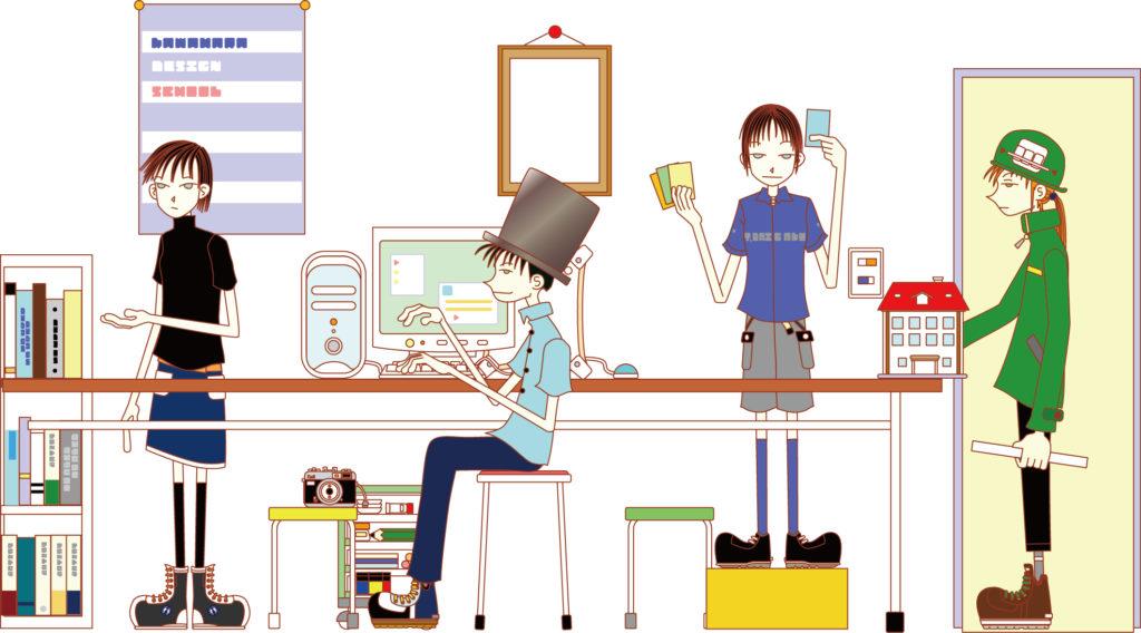 教室風景 イラスト